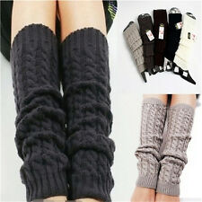 Womens Winter Knit Crochet Knitted Leg Warmers Legging Boot Cover Hot Fashion CL