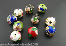 Wholesale W09 Cloisonne Ball Spacer Beads Assorted Colors 10mm