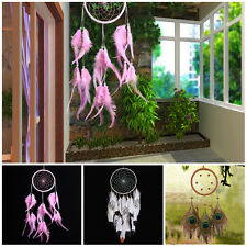 3 Styles Indian Handmade Wind Chimes Dreamcatcher Feather Pendant Hanging Decor