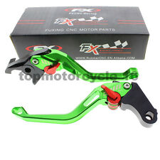 FXCNC For Kawasaki ninja  EX500 zx6r CNC 3D Rhombus Brake Clutch Hollow Lever