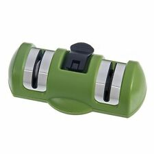 2 Stages Knife Sharpener Portable Home Kitchen Tools With Rubber Suction Base