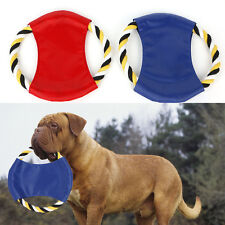 Pet Dog Puppy Toy Woven Rope Frisbee Throw Flying Disc Teething Healthy Training