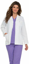 Landau Women's Long Sleeve Professional Pocket Lab Workwear Coat. 8708