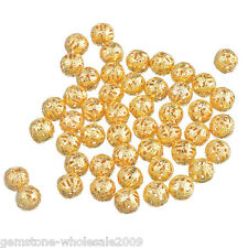 Wholesale Lots Gold Tone Spacer Beads 8mm Dia.
