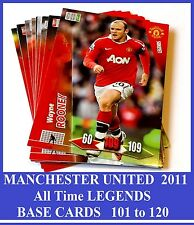 Choose Adrenalyn XL MANCHESTER UNITED 2011 Man Utd LEGEND Base Cards Panini