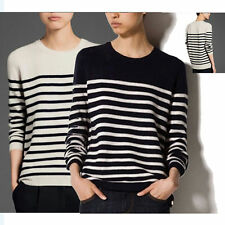 Womens loose Cashmere round collar Pullover Knit Sweater Cardigans bottom shirt