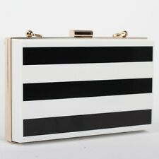 Black White Clutch Ladies Evening Bag for Party Day Clutches Purses and Handbag