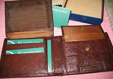 SERGIO TACCHINI MENS WALLET - New with Box - DARK BROWN - Excellent!