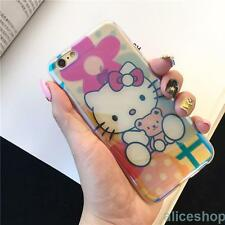 For iPhone 7 7 Plus 6 6S Transparent Hello Kitty Glitter Soft Sparkel Case Cover