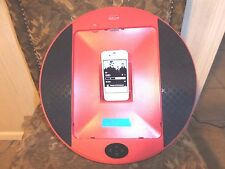 Pyle Home Audio PIPDSP2R New iPod / Itouch iPhone 4 Dock W/ Clock Radio Red