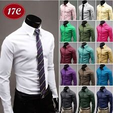 Fashion Mens Luxury Stylish Dress Slim Fit T-Shirts Casual Long Sleeve New f