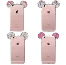 Rhinestone Mickey Mouse TPU Cover Case For iPhone 6/6S Plus iphone 7 plus Hot