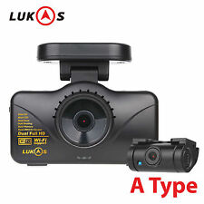 Lukas LK-7950 WD A Type Dual Full HD 1920x1080 LED Car Dash Camera Blackbox
