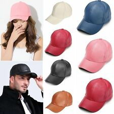 Unisex Adjustable Snapback Leather Baseball Cap Visor Sport Sun Hat Cap