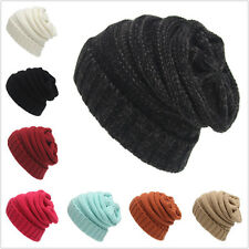 Women Men Winter Warm Knitted Baggy Beanie Hat Ski Skull Cap Skullcap New