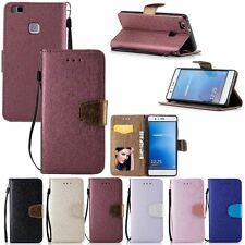 Flip Leather Cards Stand Wallet Case Cover For Huawei Ascend P8/P9 Lite/Honor 7