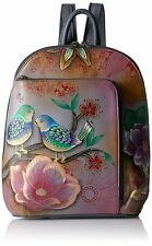Anuschka Hand Painted Genuine Leather Sling Over Travel Backpack