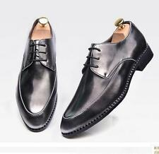 New Mens lace up pointed toe dress formal business brush off leather shoes @2@