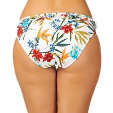 Audelle Lepel Tropical Fever Mid rise Hipster Bikini Brief Pant White Floral 14