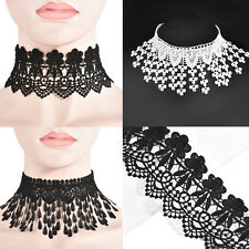 Gothic Fashion Lace drops Tassel Choker Collar chain Necklace Costume  Jewelry