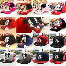 Boys Girls Infant Superhero Hip Hop Baseball Cap Mickey Bowknot Snapback Sun Hat