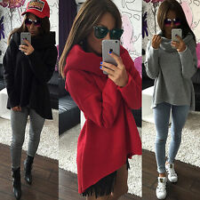 Womens Winter Shawl Collar Pullover Hoodie Jacket Loose Sweater Coat Outwear Top