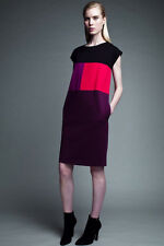 NWT NARCISO RODRIGUEZ DESIGNATION COLORBLOCK PONTE SHEATH DRESS S SMALL LIMITED