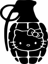 Hello Kitty - Grenade - Vinyl Car Window and Laptop Decal Sticker