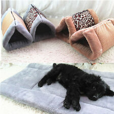 Pet Dog Bed House Cat Kennel Mat Pad Warm and Soft Washable Puppy Cushion S M