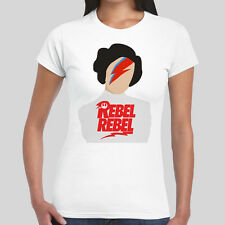 Rebel Rebel Princess Leia Carrie Fisher Tribute Tee Womens Girl Top T Shirt
