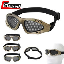Tactical Paintball Metal Mesh Net Goggle Eyes Protection Glasses Eyewear Airsoft