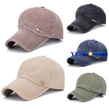Men Women Plain Baseball Trucker Cap Adjustable Sport Snapback Hip-Hop Visor Hat