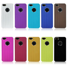 Luxury Brushed Metal Aluminum Chrome Hard Case Cover For iPhone 5