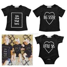 Baby Kids Boy Girl Short Sleeve Cotton T-Shirt/Romper Jumpsuit Bodysuit Clothes