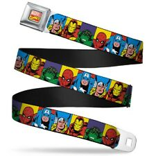 Avengers Marvel Comics Superheroes Hero Stripes Seatbelt Belt