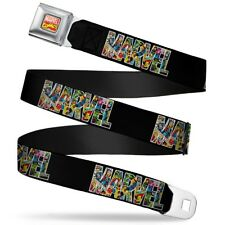 Avengers Marvel Comics Superheroes Retro Marvel Comic Letters Seatbelt Belt