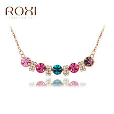 Top Quality Necklace Lovers Gift Multicolor Rose Gold Rhinestone Fashion Jewelry