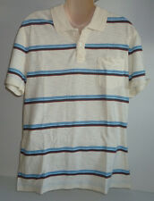 Mens AEROPOSTALE Yellow Striped Polo Shirt NWT #6707
