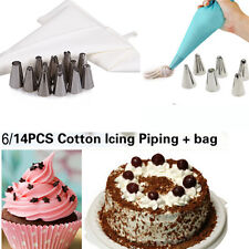 Cake Decorating Coupler Pastry Tips Stainless Steel Nozzles Piping Icing Bag