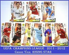 Choose Adrenalyn XL 2011/12 UEFA Champions League 2012 RISING STAR 11 12 Cards