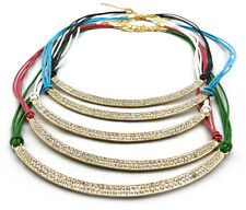 Bohemia Charming Gold Plated Alloy Curved Crescent Rhinestone Choker Necklace