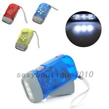 New 3 LED Hand Pressing Flashlight Travel Torch Light  Lamp Outdoor Plastic