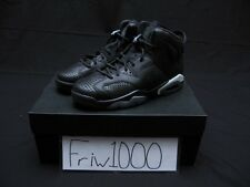 NIKE AIR JORDAN 6 RETRO - GS YOUTH BLACK/WHITE 384665-020 BLACK CAT
