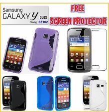 Samsung Galaxy YOUNG Y Duos S6102 TPU S Line Cover case Free Screen Protector