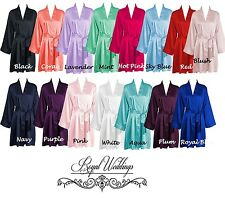 Personalised Robes Satin Bridesmaid Robes Bride Robe Dressing Gowns 5 Pack Set