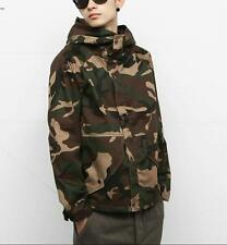 Mens Outdoor Jacket Camouflage Army Camo Combat Military Hooded Coat New YT@@@#