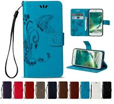 Magnetic Wallet Card Lot Stand Flip PU Leather Cover 3D Butterfly LD-HD2- Case