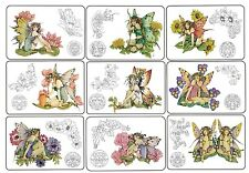 A6 Zodiac Star Signs Unmounted Rubber Stamp Enchanted Fairies Linda Ravenscroft
