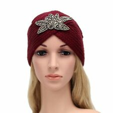 Baggy Warm Winter Ski Cap Braided Beanie Crochet Beret Wool Hat
