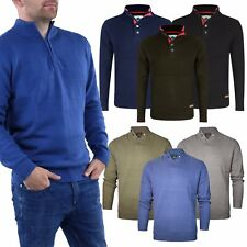 Mens Jumper Stallion Zip Neck & Turtle Neck Chunky Sweater Casual New M L XL XXL